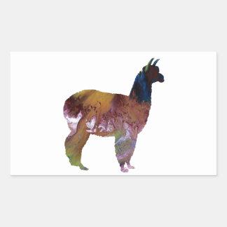 Alpaca Rektangulärt Klistermärke
