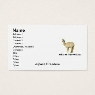 Alpacaavelsdjur visitkort
