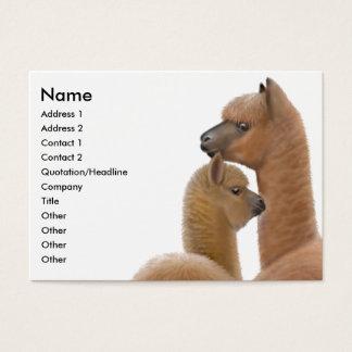 Alpacakärlekvisitkort Visitkort