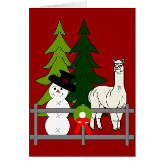 Alpacas som är roliga i kortet för hälsningskort