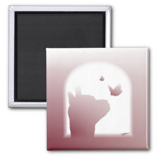 AlpacaSilhouettemagnet Magnet För Kylskåp