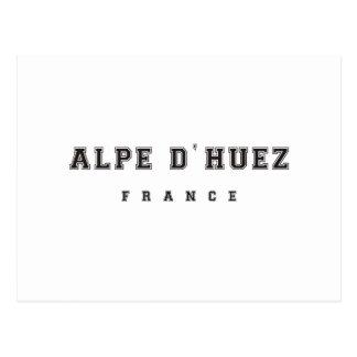 Alpe dhuezfrankriken vykort
