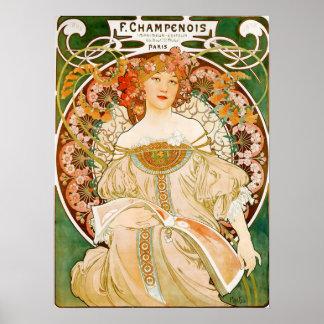 Alphonse (Alfons) Mucha affisch:  Champenois