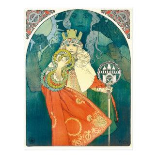 Alphonse Maria Mucha ~-art nouveau Vykort