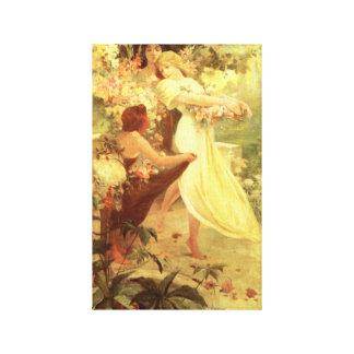 Alphonse Mucha ande av våren Canvastryck