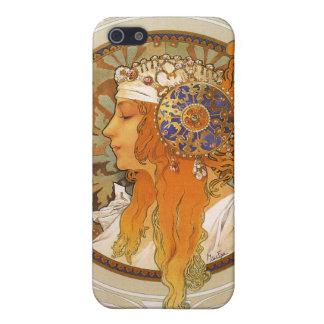 Alphonse Mucha art déco iPhone 5 Skal