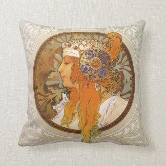 Alphonse Mucha art déco Kudde