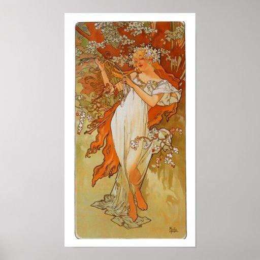 Alphonse Mucha - art nouveau - vår Affischer