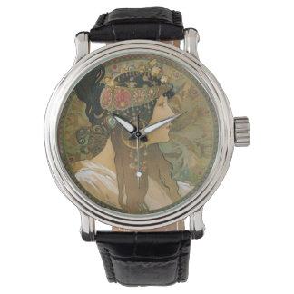 Alphonse Mucha art nouveaukvinna