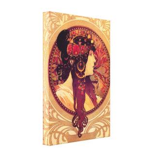 Alphonse Mucha Donna Orechini kanfasaffisch Canvastryck