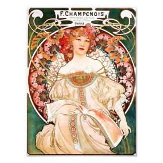 Alphonse Mucha F. Champenois Utskrift Fototryck