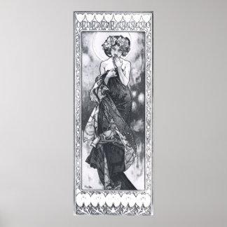Alphonse Mucha. La Lune/måne 1902 Affischer
