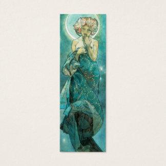 Alphonse Mucha månskenClair De Lune art nouveau Litet Visitkort