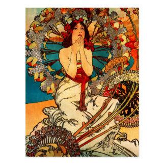 Alphonse Mucha Monte - carlo vykort