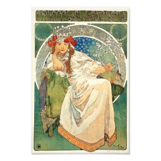 Alphonse Mucha Princess Hyacint Utskrift Fototryck