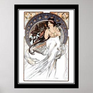 Alphonse Mucha vintage affischfransk
