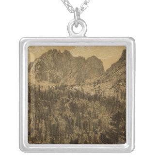 Alpin sjö, Sierra Nevada Silverpläterat Halsband