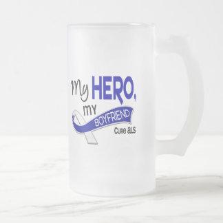 ALS min pojkvän min hjälte 42 Frostad Glas Mugg