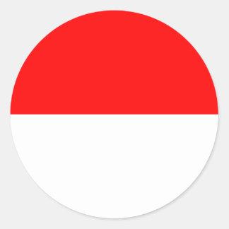 Alsace-Lorraine flagga Runt Klistermärke