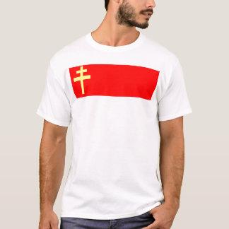 Alsace-Lorraine flagga T Shirts