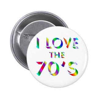 Älska 70-tal standard knapp rund 5.7 cm