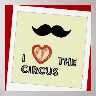 Älska cirkusaffischen, ungeväggdekor poster