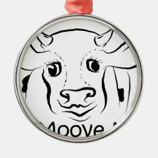 Älska Cow.jpg Julgransprydnad Metall