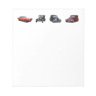 älska de gammala klassikerbilar anteckningsblock