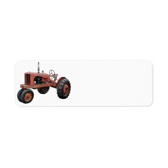 Älska de gammala rostiga traktorer returadress etikett