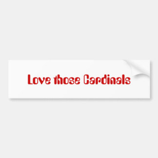 Älska de kardinaler bildekal
