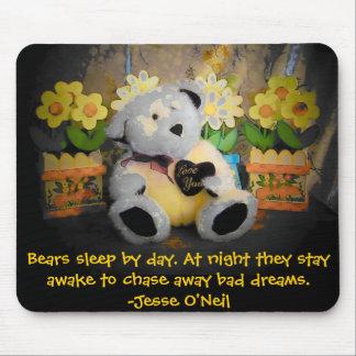 """""""Älska dig"""" björnvakter dina drömmar Musmatta"""