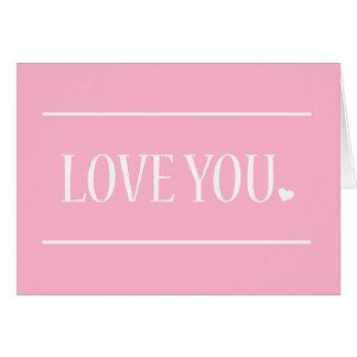 Älska dig den | bleken - rosa valentin kort