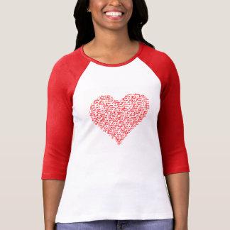 Älska dig den röda RaglanT-tröjaalla hjärtans dag Tröja