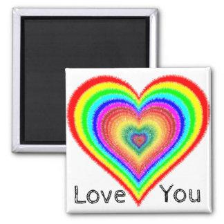 Älska dig hjärta för magneten för lesbisken LGBT Magnet