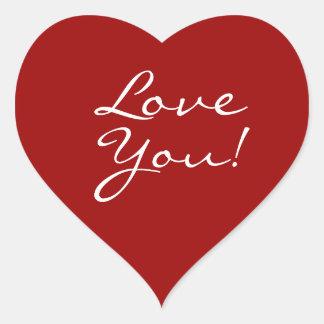 Älska dig hjärta hjärtformat klistermärke