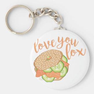Älska dig Lox Rund Nyckelring