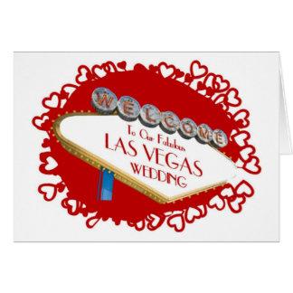 Älska dig med all min hjärta vårt bröllop i Las Ve Hälsningskort
