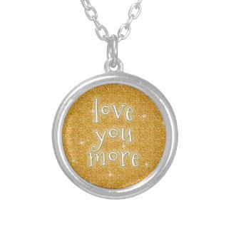 Älska dig mer silverpläterat halsband