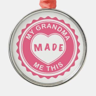 Älska dig, mormor! julgransprydnad metall
