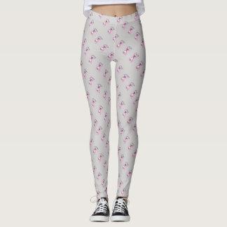 Älska dig textillustrationen av kattrosagrått leggings