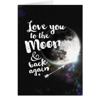 Älska dig till månen & dra tillbaka igen •,Göra Hälsningskort