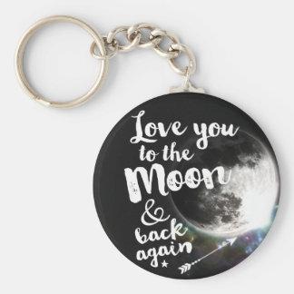 Älska dig till månen & dra tillbaka igen •, Göra Rund Nyckelring
