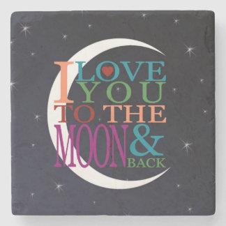Älska dig till månen & dra tillbaka stenunderlägg