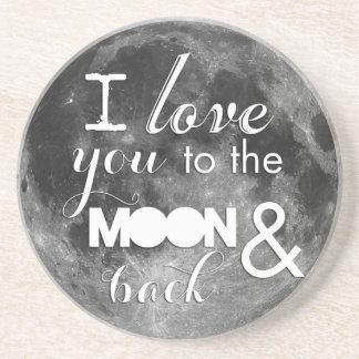 Älska dig till månen och dra tillbaka underlägg sandsten