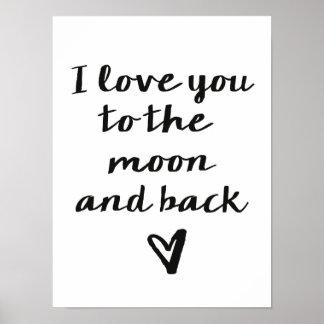 Älska dig till månen poster