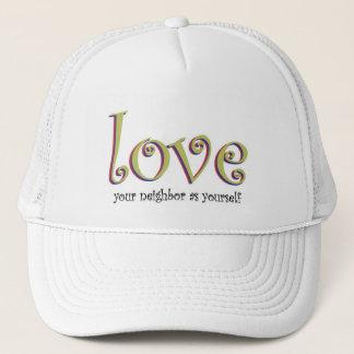 Älska din gränsa till hatt keps
