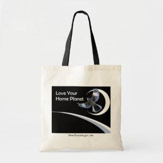 Älska din hem- planetshopping bag tygkasse