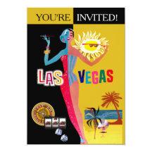 Älska födelsedag för Las Vegas vintageöverrrakning 12,7 X 17,8 Cm Inbjudningskort