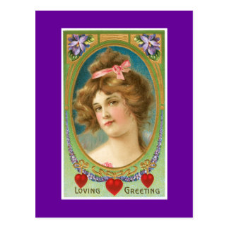 Älska hälsningvintage vykort