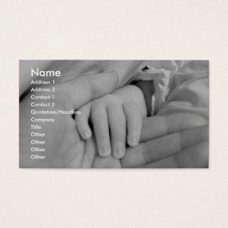 Älska händerbarnomsorgvisitkorten visitkort